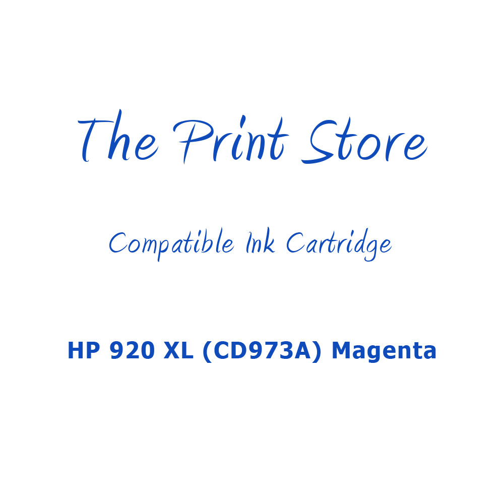 HP 920XL (CD973A) Magenta Compatible Ink Cartridge