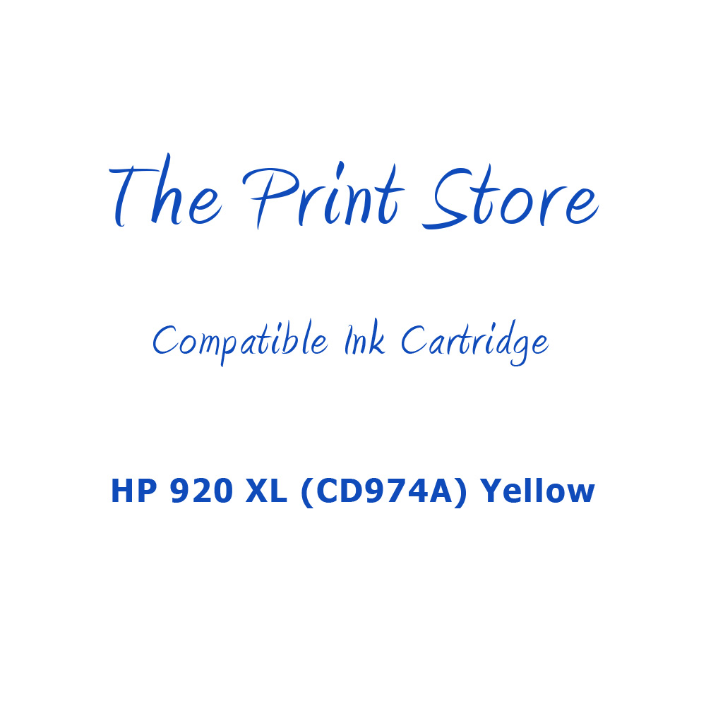 HP 920XL (CD974A) Yellow Compatible Ink Cartridge