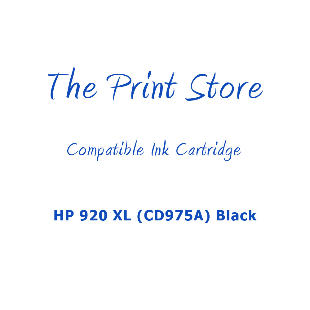 HP 920XL (CD975A) Black Compatible Ink Cartridge
