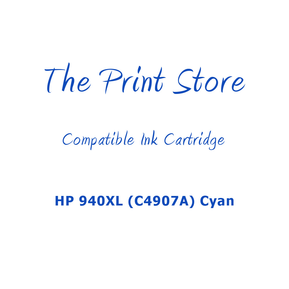 HP 940XL (C4907A) Cyan High Capacity Compatible Ink Cartridge