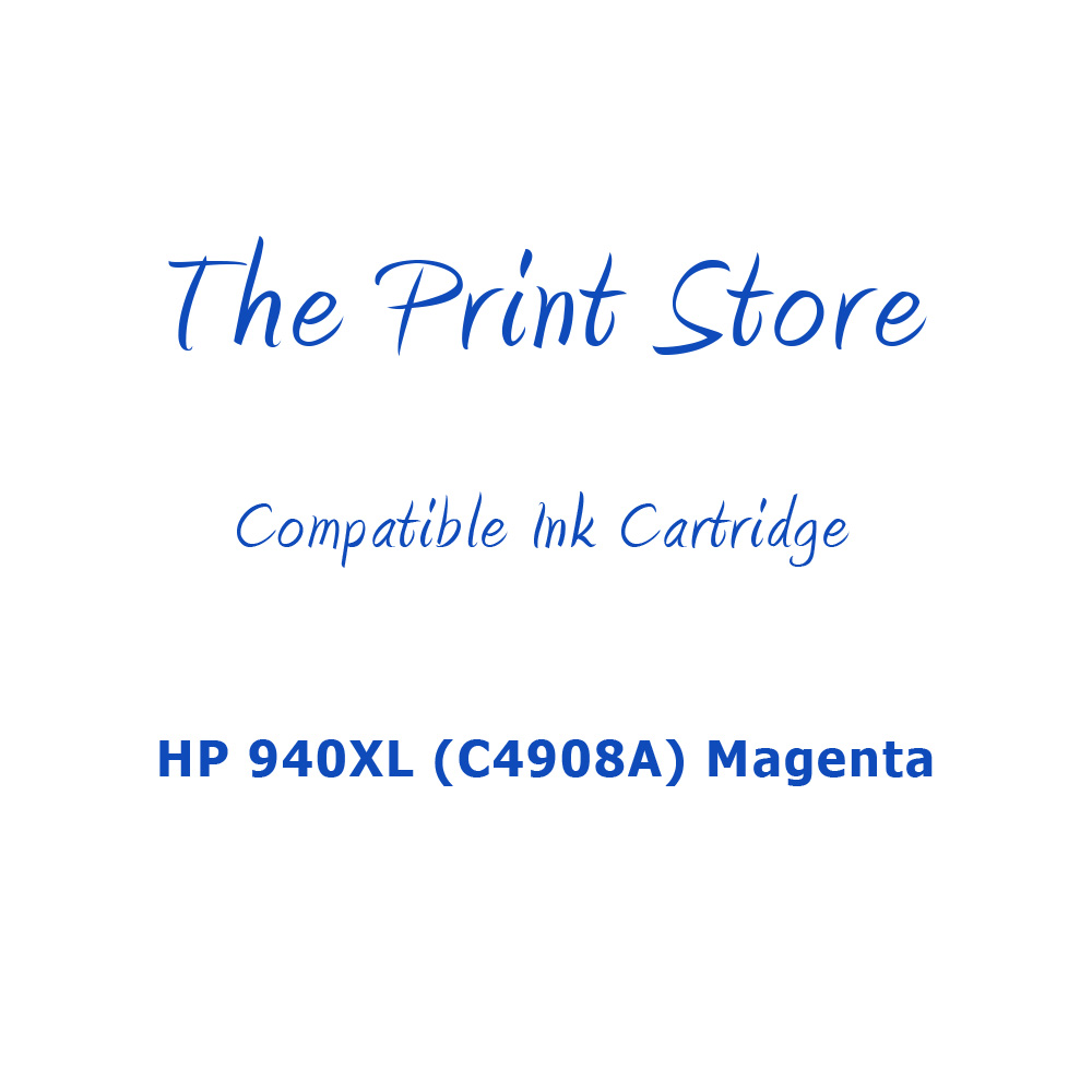 HP 940XL (C4908A) Magenta High Capacity Compatible Ink Cartridge