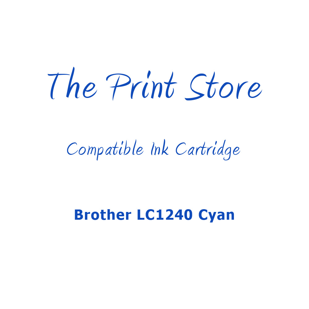 Brother LC1240 Cyan Compatible Ink Cartridge