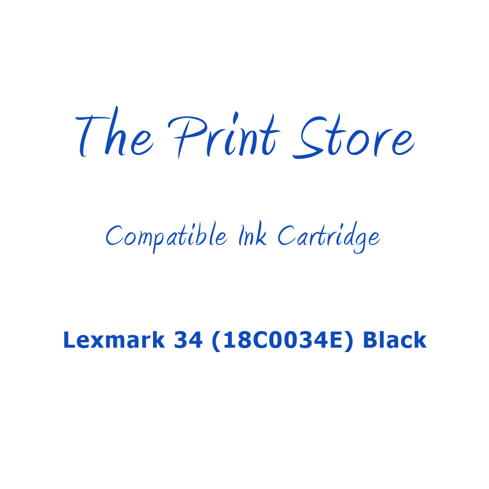 Lexmark 34XL (18C0034E) Black Compatible Ink Cartridge