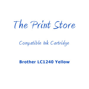 Brother LC1240 Yellow Compatible Ink Cartridge