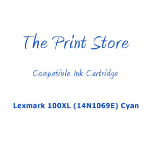 Lexmark 100XL (14N1069E) Cyan (Return Program) Compatible Ink Cartridge