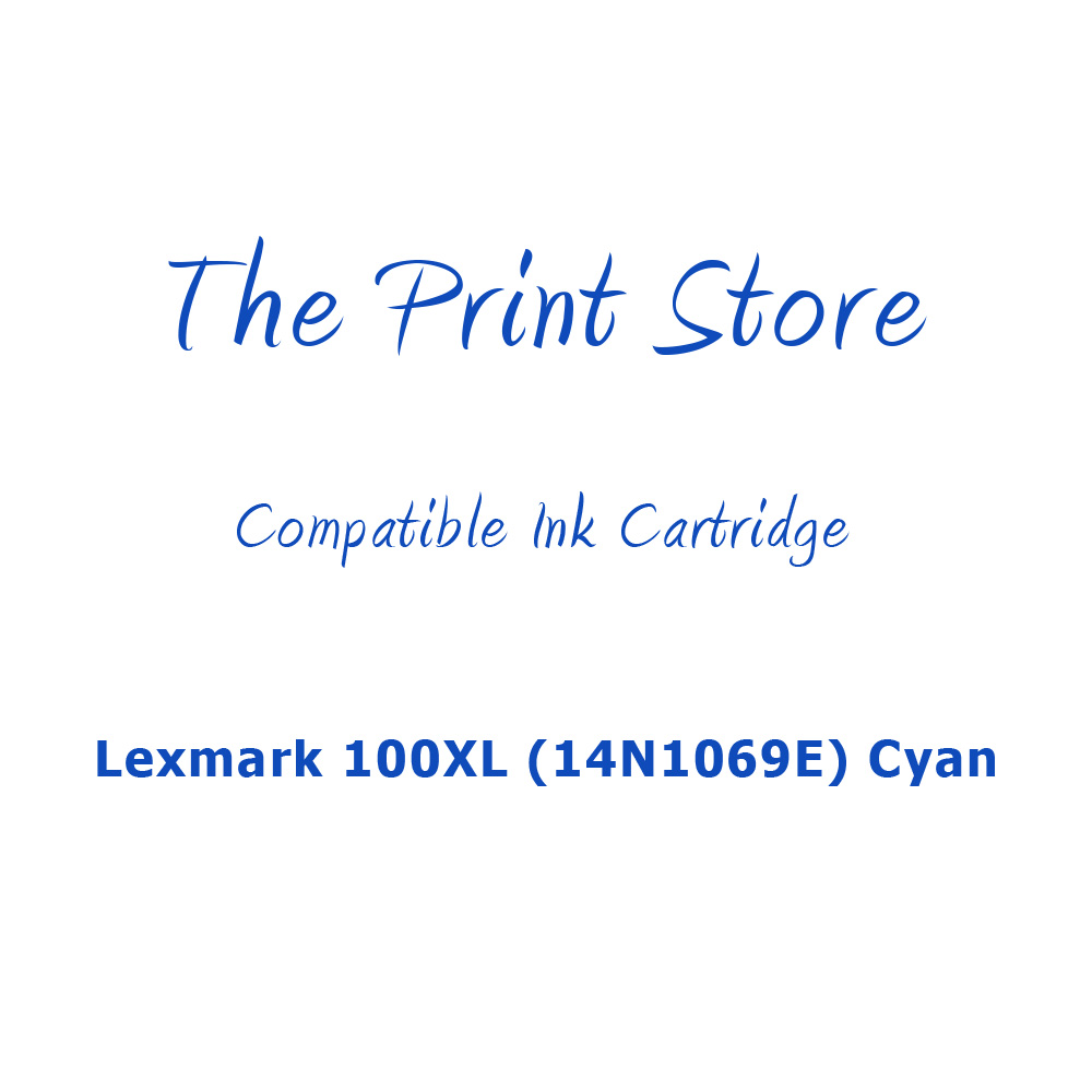 Lexmark 100XL (14N1069E) Cyan (Return Program) Compatible Ink Cartridge