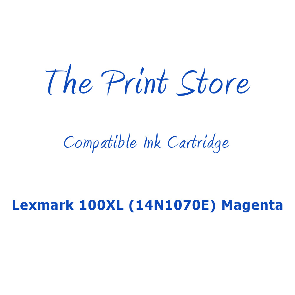 Lexmark 100XL (14N1070E) Magenta (Return Program) Compatible Ink Cartridge