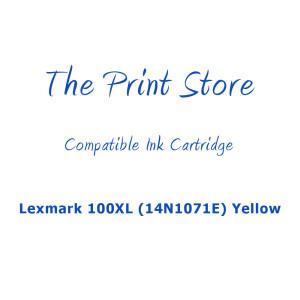 Lexmark 100XL (14N1071E) Yellow (Return Program) Compatible Ink Cartridge