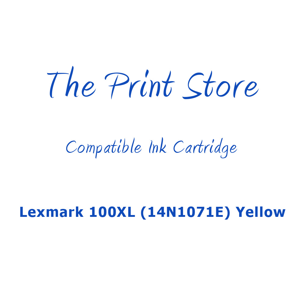 Lexmark 100XL (14N1071E) Yellow (Return Program) Compatible Ink Cartridge