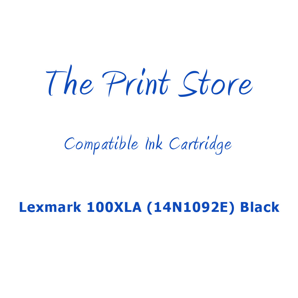 Lexmark 100XLA (14N1092E) Black Compatible Ink Cartridge