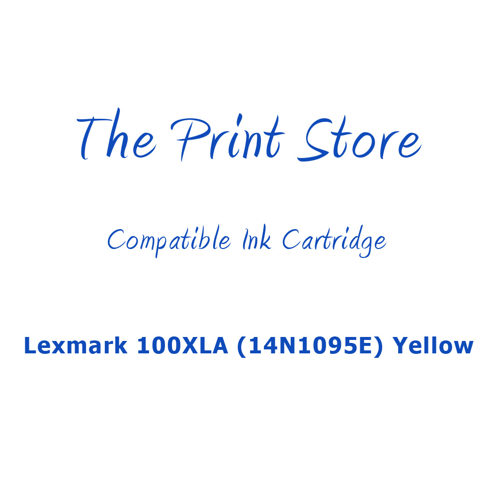 Lexmark 100XLA (14N1095E) Yellow Compatible Ink Cartridge