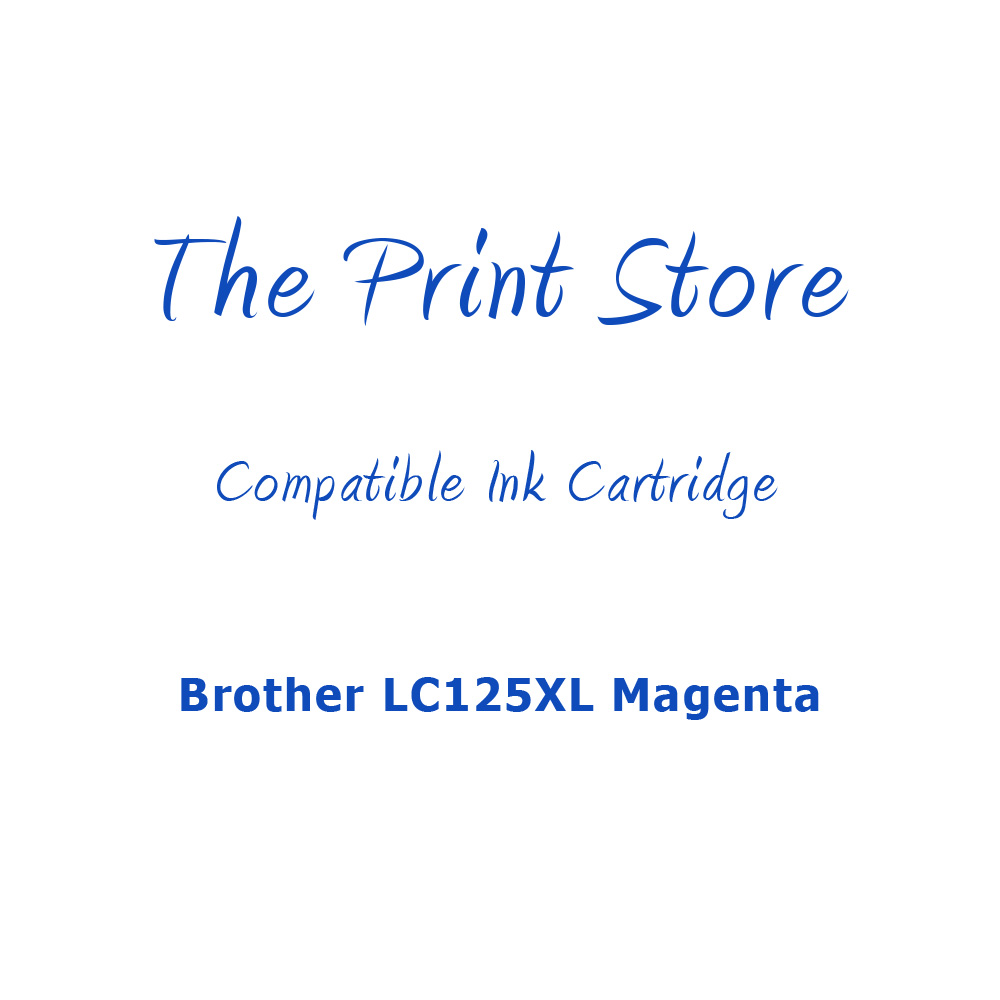 Brother LC125XL Magenta Compatible Ink Cartridge