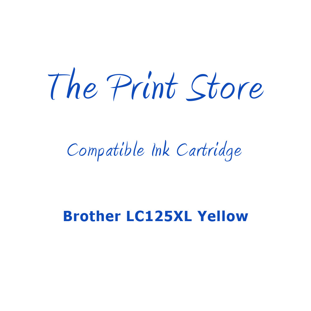 Brother LC125XL Yellow Compatible Ink Cartridge