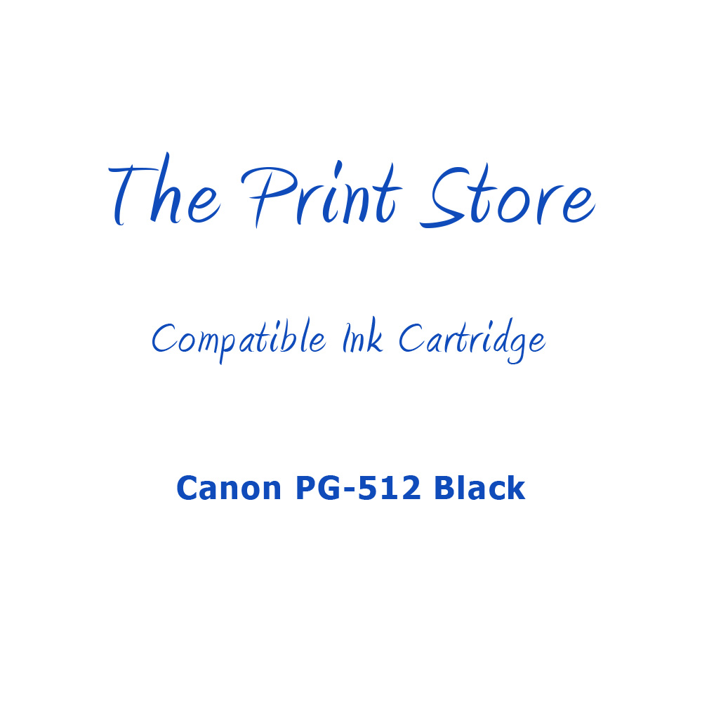Canon PG-512 Black Compatible Ink Cartridge