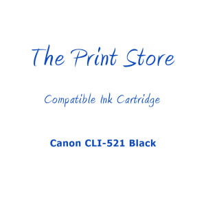 Canon CLI-521 Black Compatible Ink Cartridge