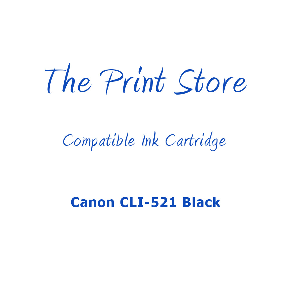 Canon CLI-521 Black Compatible Ink Cartridge