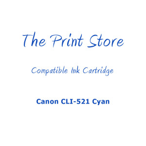 Canon CLI-521 Cyan Compatible Ink Cartridge