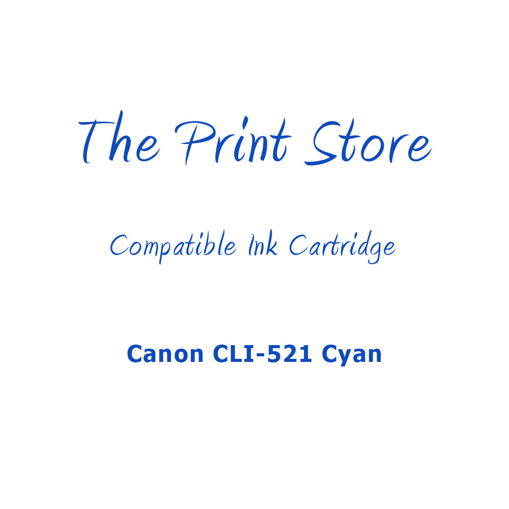 Canon CLI-521 Cyan Compatible Ink Cartridge