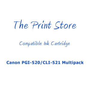Canon PGI-520/CLI-521 Multipack Compatible Ink Cartridges