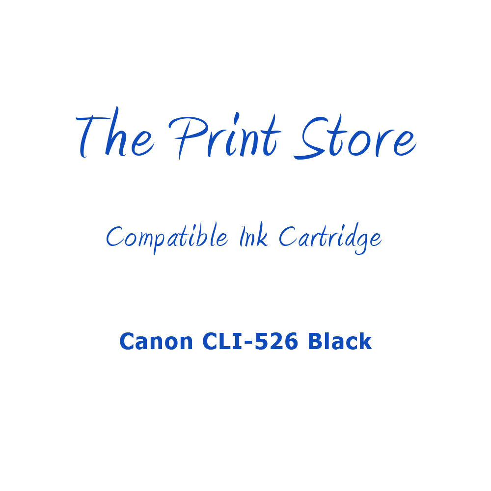 Canon CLI-526 Black Compatible Ink Cartridge